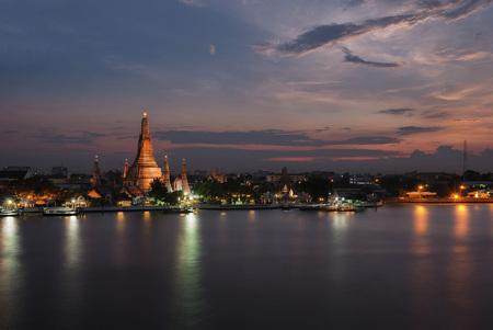 Wat Arun at sunset time, Bangkok, Thailand