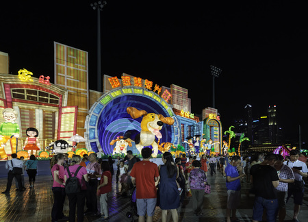 River Hongbao, Chinese New Year Lantern Festival at Marina Bay, Singapore