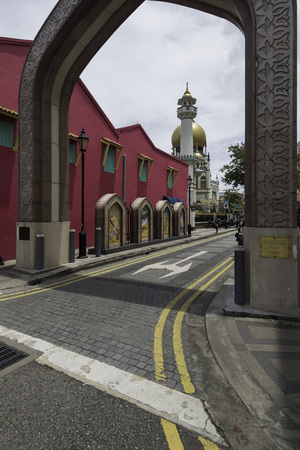 Masjid Sultan, preserved historical mosque at Arab Street, Singapore
