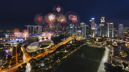 Singapore Marina Bay Fireworks for National Day Celebration