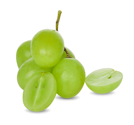 green grapes isolated on white background 版權商用圖片