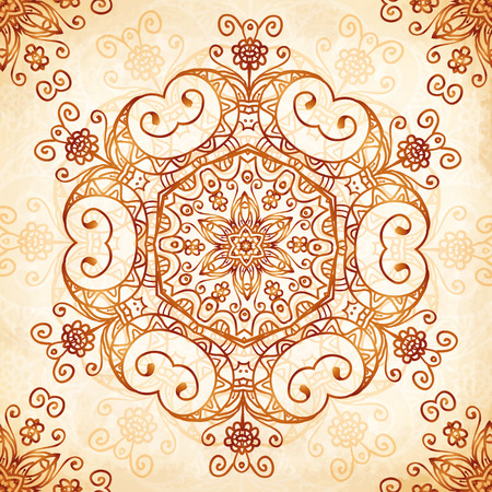Vector ornate vintage background Illustration