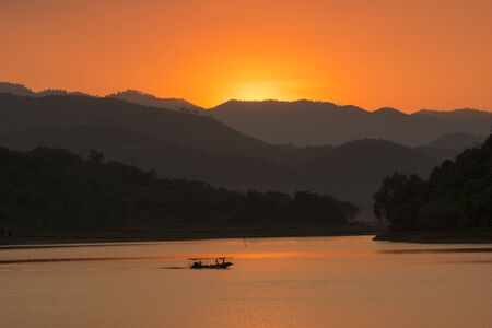 Sunset at Kaeng Krachan National park