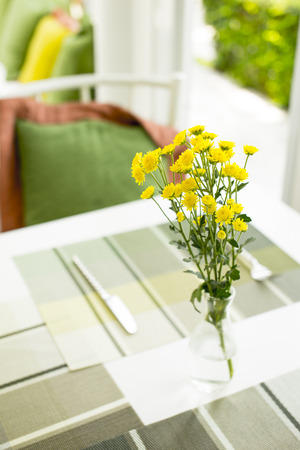 tableland: Flowers on the table.