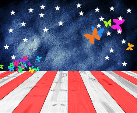 USA Colors with butterfly shape for background photo