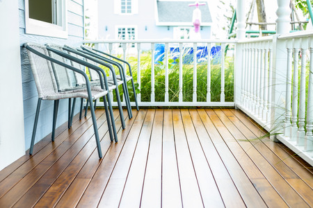 porches: Chairs for relax on wooden front porch