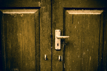 private parts: The old door with a key lock
