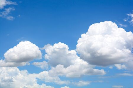 tranquil atmosphere: Cloud in blue sky background.