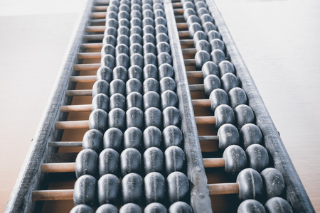 compute: Abacus. Old equipment for calculation
