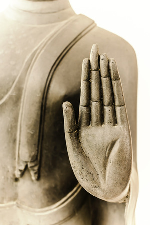 buddha hand: Buddha hand. Buddha Statue at Wat Don-Whai, Thailand.