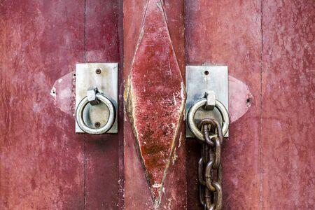 door handle: Old door handles at Wat Don-Whai, Thailand.
