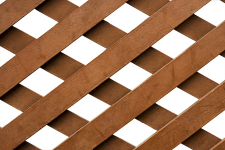 layer styles: Intersection of the lath againts white background Stock Photo