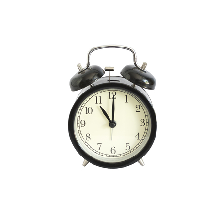 abstract alarm clock: Alarm clock setting at 11 AM or PM.  Abstract time.