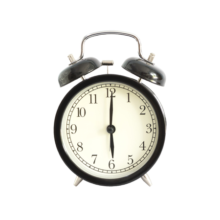 pm: Alarm clock setting at 6 AM or PM.  Abstract time.