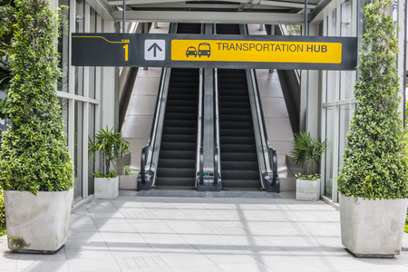 Entrance of transportation terminal. Transportation concept. Stock Photo