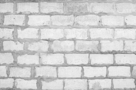 White brick wall texture for background. Abstract background.