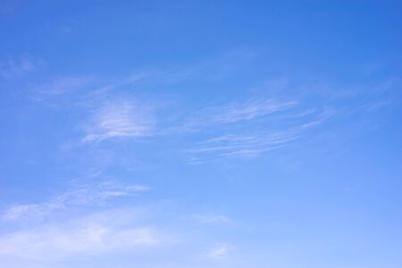 Smooth cloud in the blue sky. Abstract background.