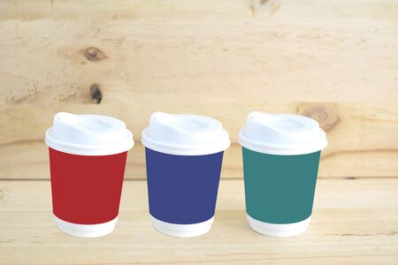 3 style in color with cup of coffee.