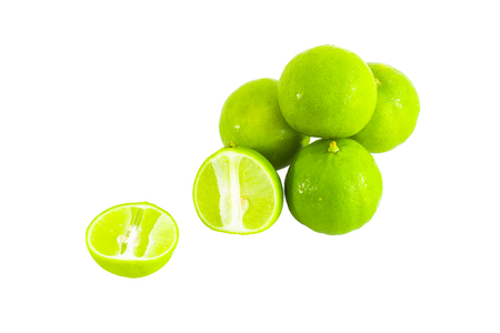 Fresh ripe lime isolated on white background. This has clipping path.