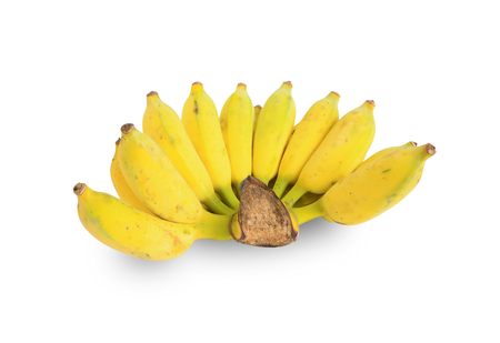 Banana (Pisang Awak) isolated on white background. This has clipping path.