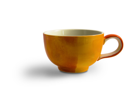 Orange Cup isolated on white background. This has clipping path.