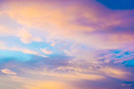 Beautiful sky and clouds. Nature background.