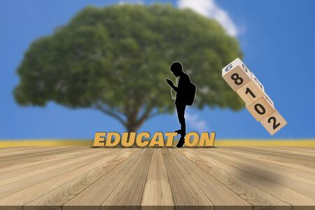 Graphics background for Education Concept. Stock Photo