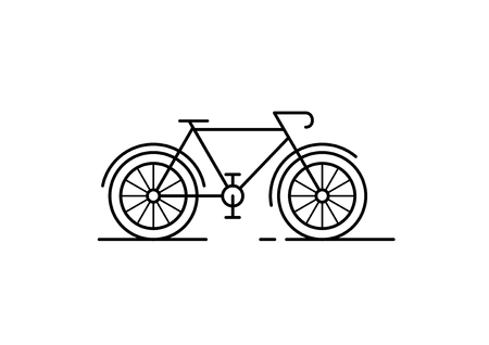 Abstract of Bike on White background. Bicycle Shape in Black lines.