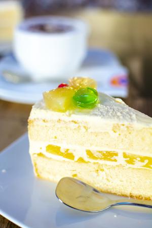 Closeup on A slice of cake.