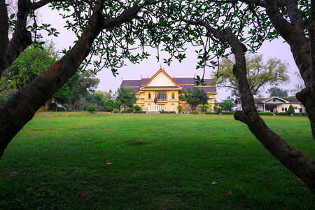 Nan, Thailand. This place is the National Museum.