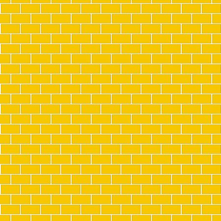 Seamless pattern of Yellow brick wall for background.
