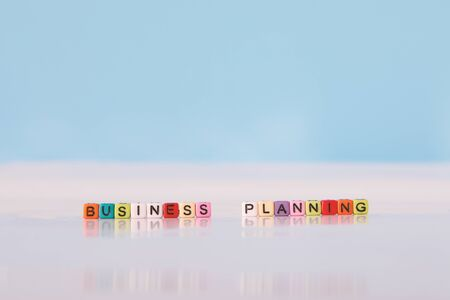 The Cube BUSINESS PLANNING and White backgrounds. Business Key.