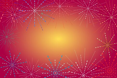 Fireworks display on Golden background. Festive and Special Event Backdrop. Иллюстрация