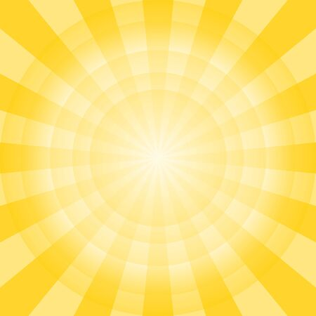 Radius of Yellow and White Background. Abstract Color Background.