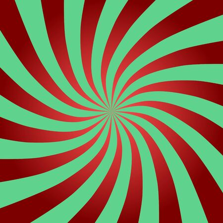 Radius of Red and Green Background. Abstract Christmas Background.
