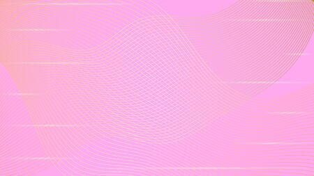 Abstract line curve pattern on the pink color background.