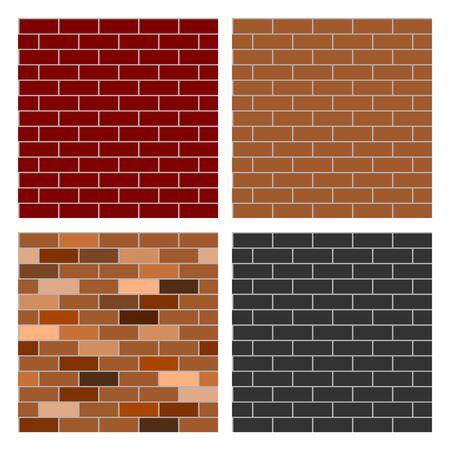 4 Style of Brick Wall background having seamless pattern. Иллюстрация