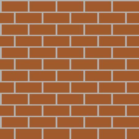 Brown brick walls background having seamless pattern.