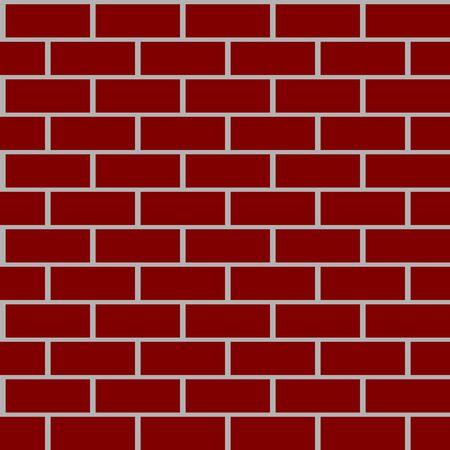 Red brick walls background having seamless pattern. Иллюстрация