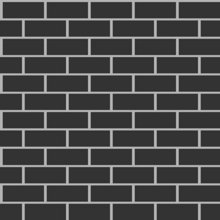 Black brick walls background having seamless pattern.