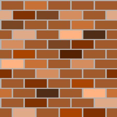 Various brown brick walls background having seamless pattern.