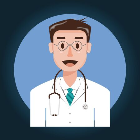 A man is smiling who looks like a doctor. This object is used for medical and healthcare concept.