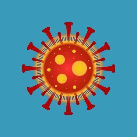 Symbol of The virus Covid-19 isolated. Imaginary image of Virus.