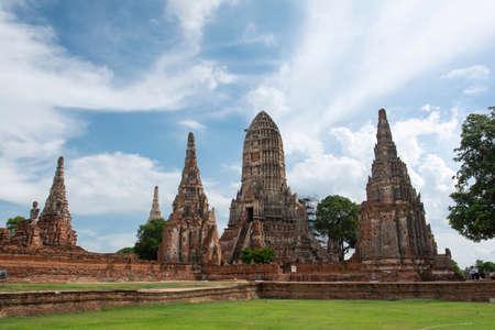 The old temple (Wat Chai Wattanaram). A Historical park in Phra Nakhon Si Ayutthaya Province.