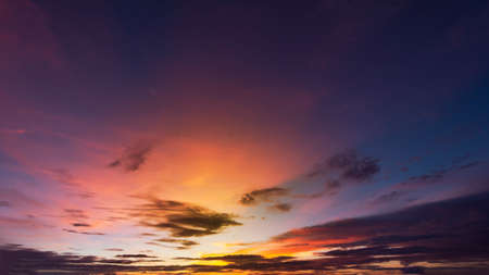 Colorful sky backgound. Beautiful color in the sky. Imagens