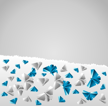 transformed: Origami  background. Paper is transformed to butterflies.
