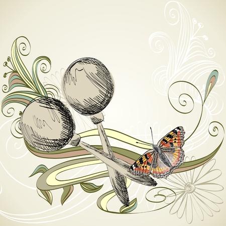 Schizzo di uno strumento musicale. Maracas disegnati a mano su uno sfondo chiaro. Archivio Fotografico - 64015734
