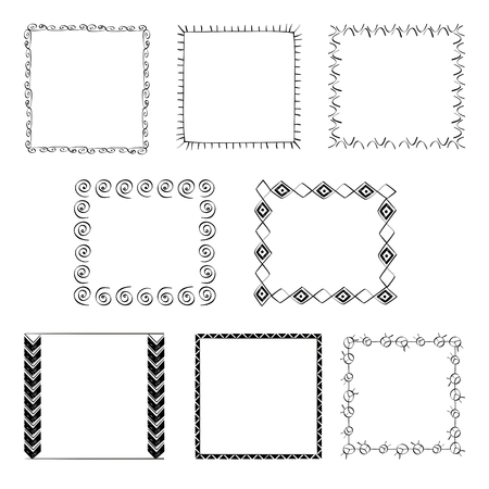 Set of frames for your text. Vector illustration