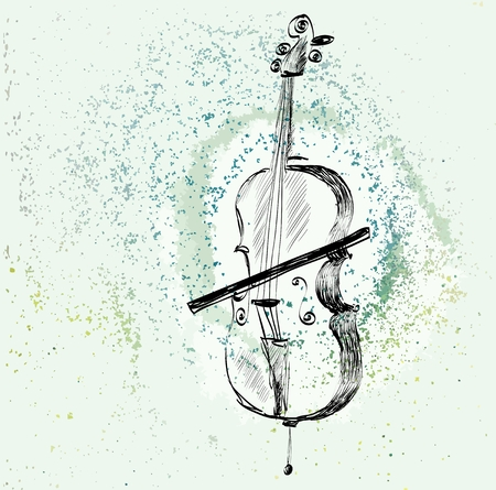 music instruments: hand drawn of classical stringed music instruments
