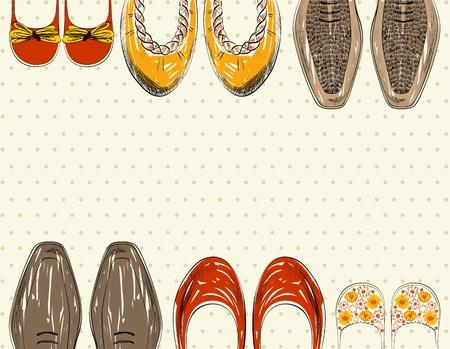 Vector scarpe alla moda per tutta la famiglia. Archivio Fotografico - 65379800